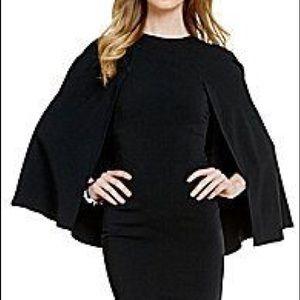 NWT Antonio Melani black cape dress